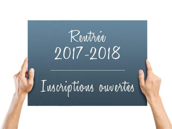 Inscriptions 2017-2018 ouvertes