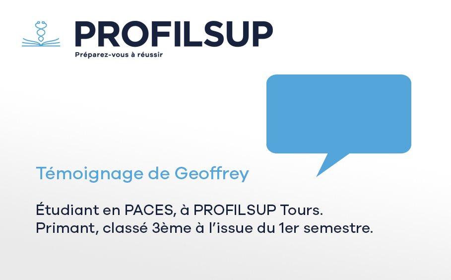 Témoignage de Geoffrey, en PACES à Tours, 3ème à l'issue du S1